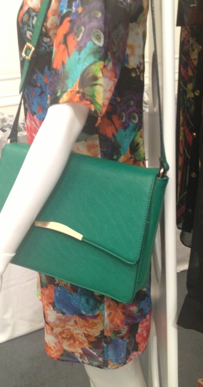 M&S teal bag