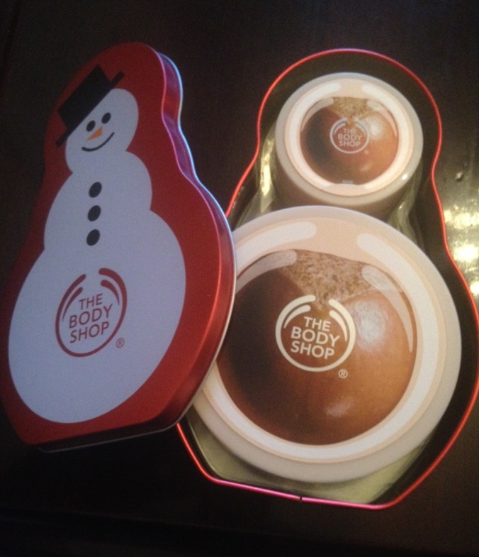 BODY SHOP butter snowman