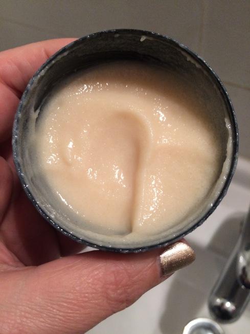 LUSH hand scrub inside
